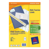 Avery Multifunction and Copier Labels 38.1x21.2mm 65 Labels Per Sheet